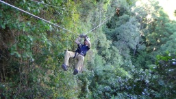 Ziplining across the canopy!